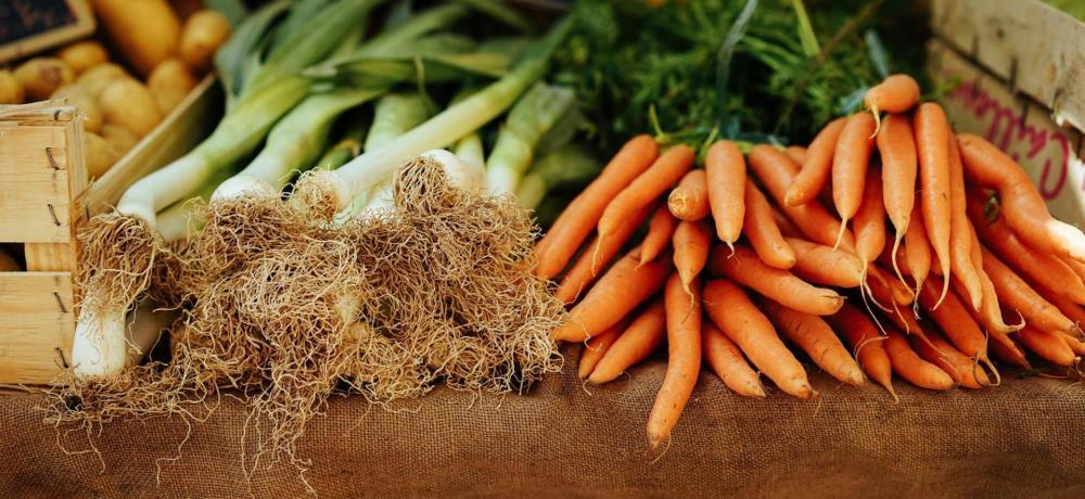 Purjolök och morötter