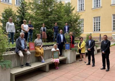 Utvecklings och hållbarhetsrådet i grupp.