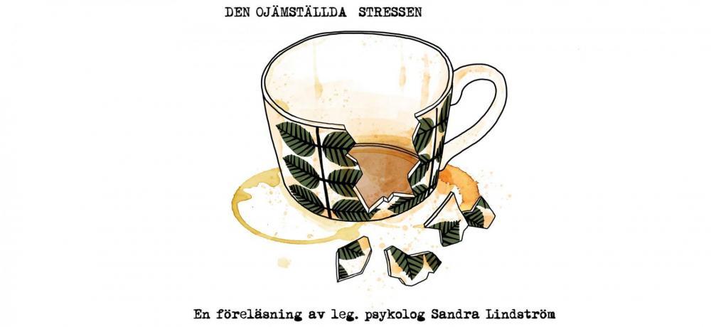 Tecknad trasig kaffekopp