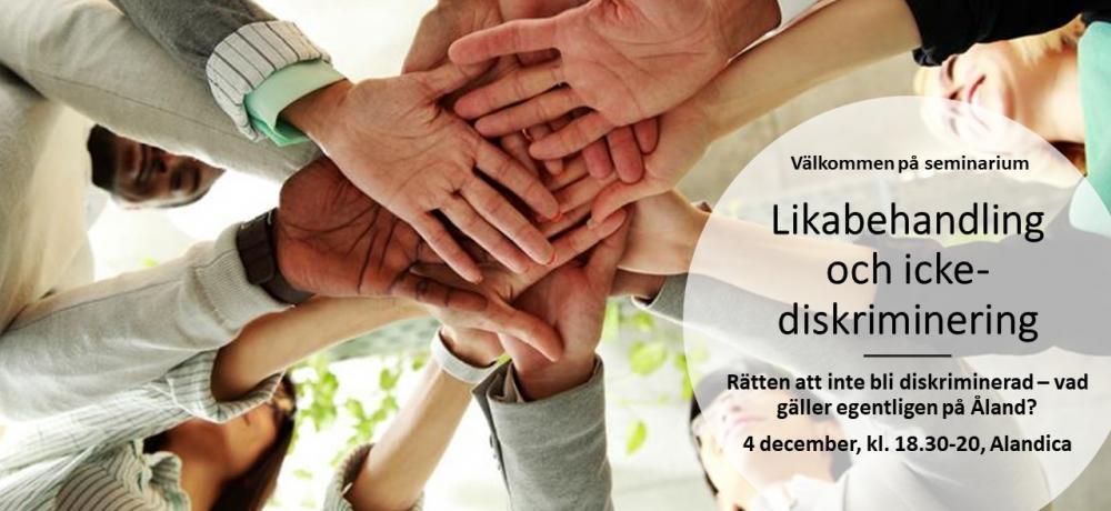 Likabehandling och icke-diskriminering - Händer på varandra