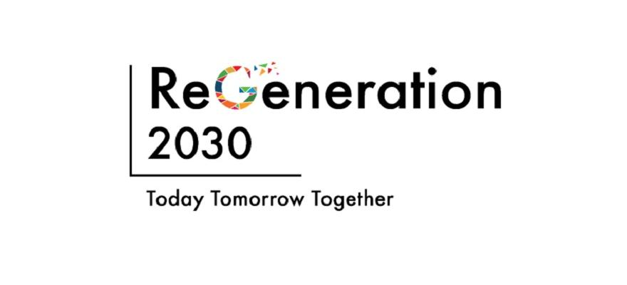 Bild med texten ReGeneration 2030 Today Tomorrow Together