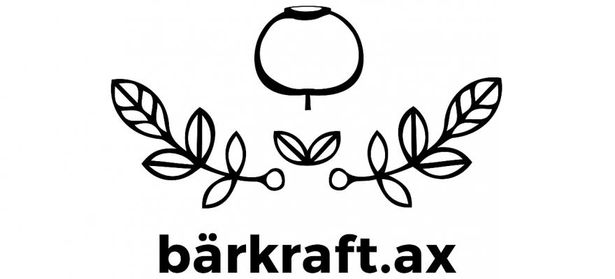 text bärkraft.ax, svartvitt bär med blad