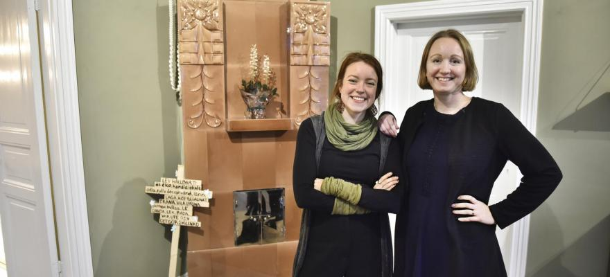 Bild på Sofia Enholm och Karin Rosenberg-Brunila